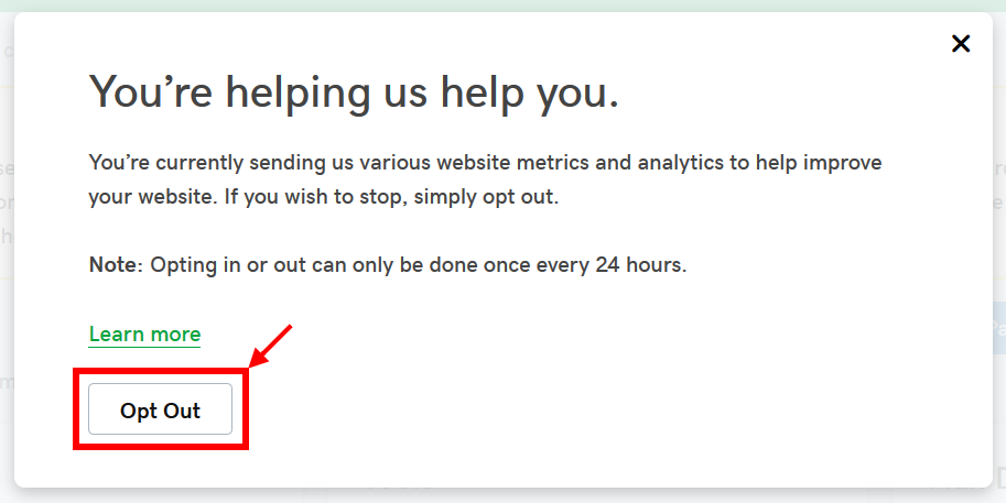 GoDaddy opt-out AMP issue