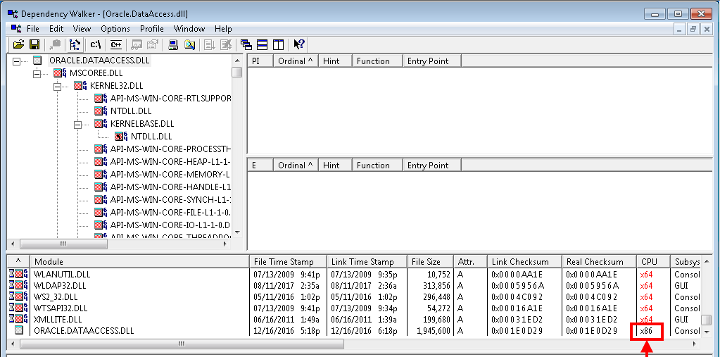 How to find out processor architecture (x86, x64) of dll and exe