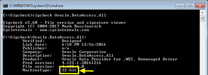 How to find out processor architecture (x86, x64) of dll and