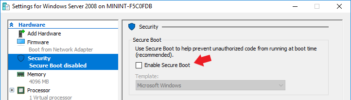 """Enable Secure Boot"" option. Solve ""unsigned image's hash is not allowed"" error"