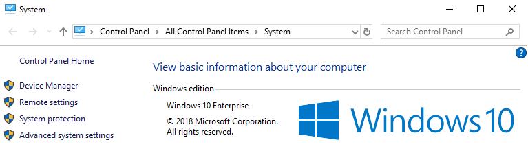 Windows properties to see Windows version