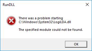 Solve There was a problem starting  C:\Windows\System32\LogiLDA.dll error